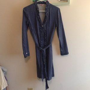 Dresses & Skirts - Blue button down dress
